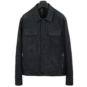 [40% OFF] Trucker Leather Jacket - Nubuck