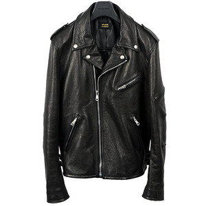 Rider's Jacket<br>Vegetable Leather<br>Black