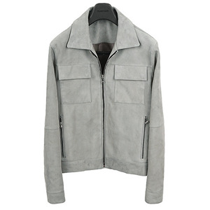 3�����԰� <br> Two Pocket Suede Blouson <br> Goat Skin [Mint Gray]