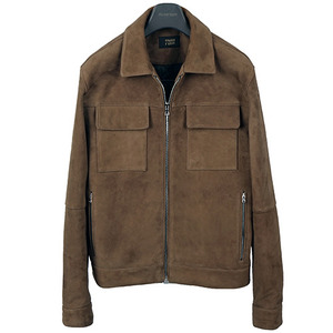 Two Pocket Suede Blouson <br> Goat Skin [Moca Brown]
